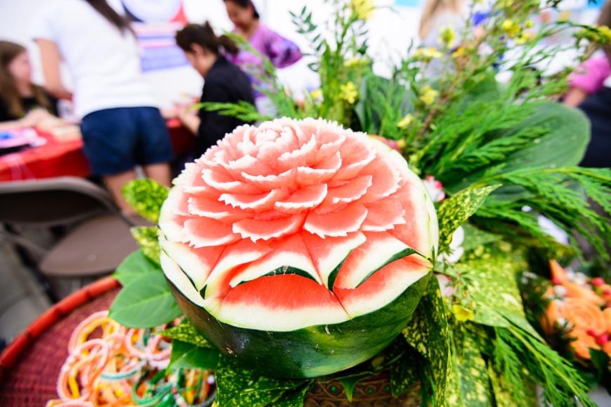 sculpture in watermelon