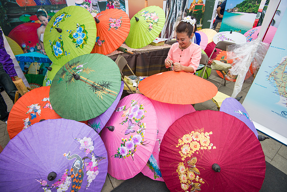 hand painted umbrellas
