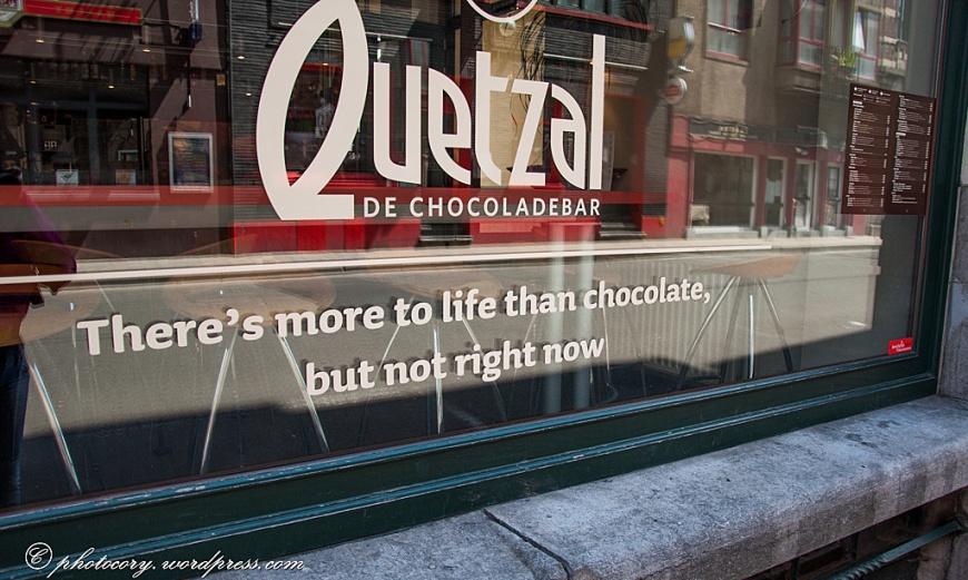 Belgians are very proud of their chocolate.
