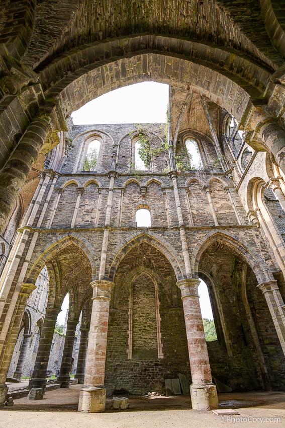ruins at villers la ville belgium