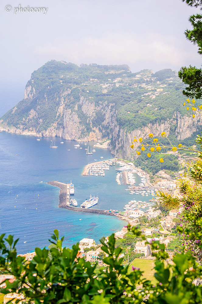 Tyrrhenian Sea. View over the Port in Capri