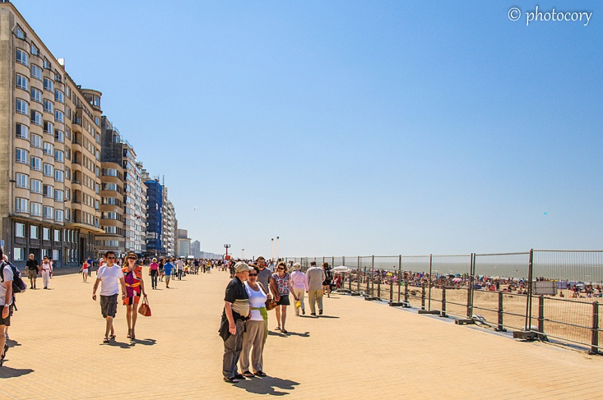 The large esplanade in Oostende
