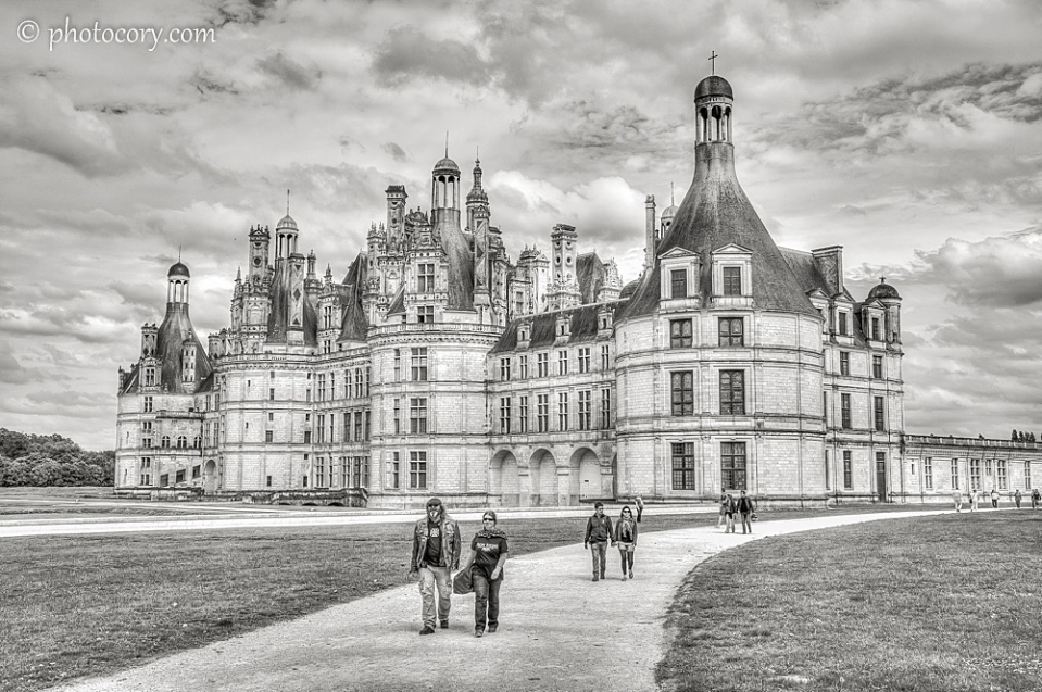 B&W HDR Château de Chambord