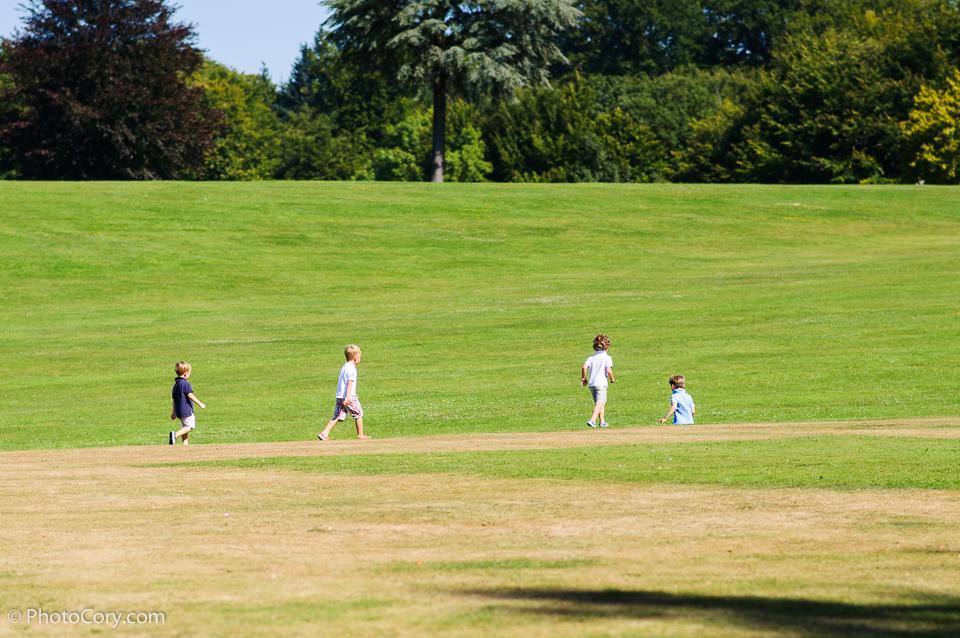 children running on grass, La hulpe, Belgium