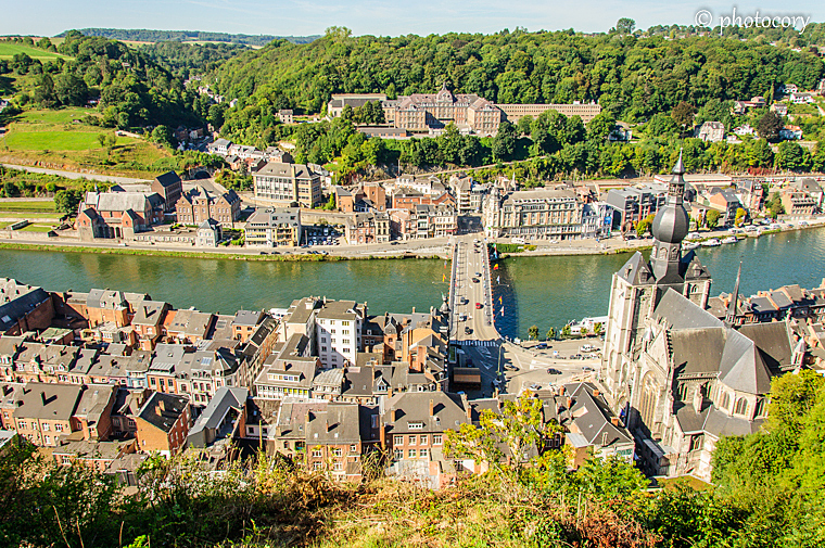 Dinant seen from the hill