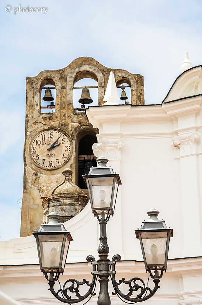 Detail of an old clock tower