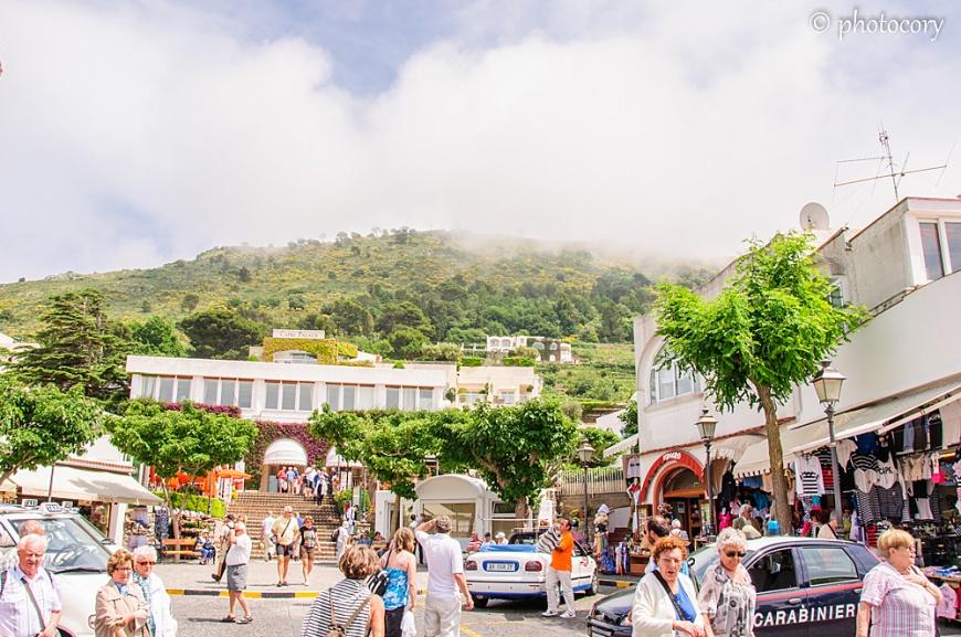 Tourists in Capri