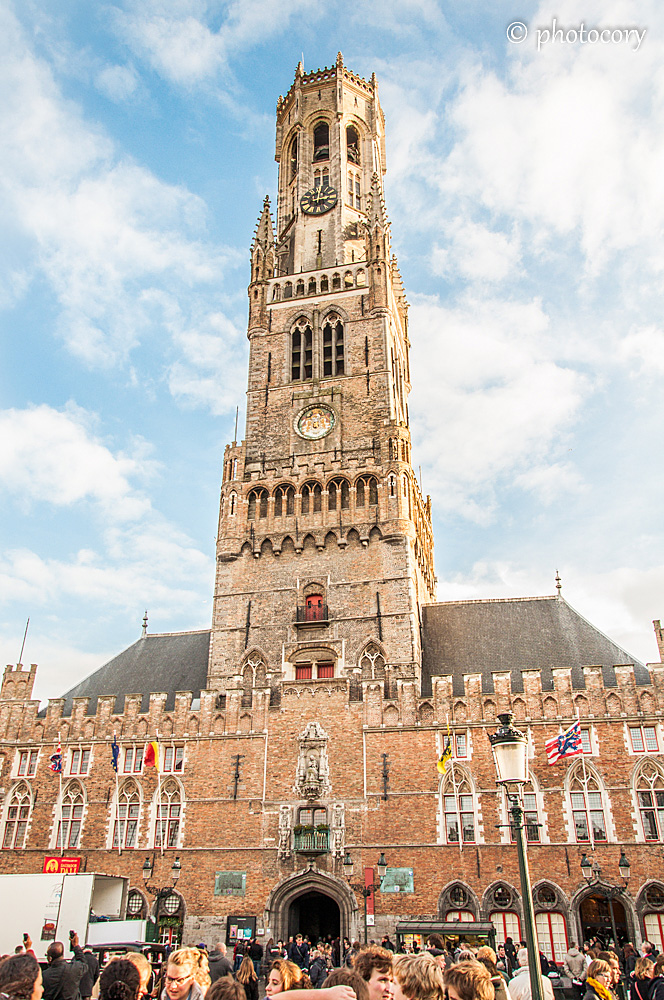"The Belfry tower in the main square. Here is where they shoot some scenes of movie ""In Bruges"". Good movie, I liked it!"