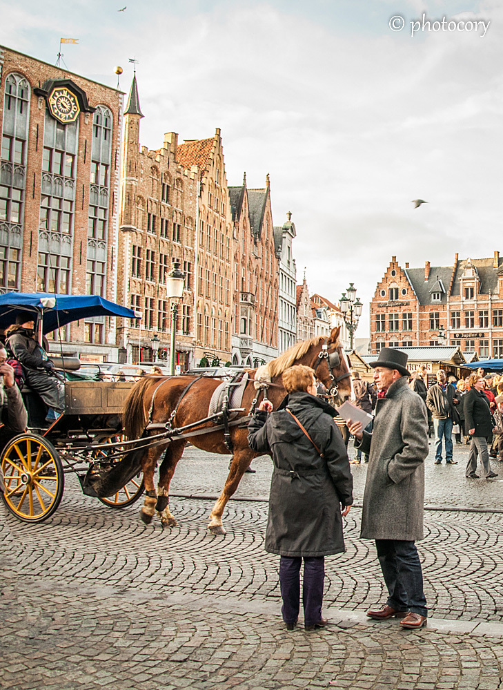 horse and carriage in Central Market