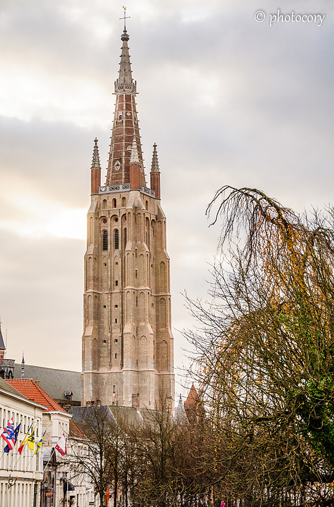 The tower of The Church of Our Lady