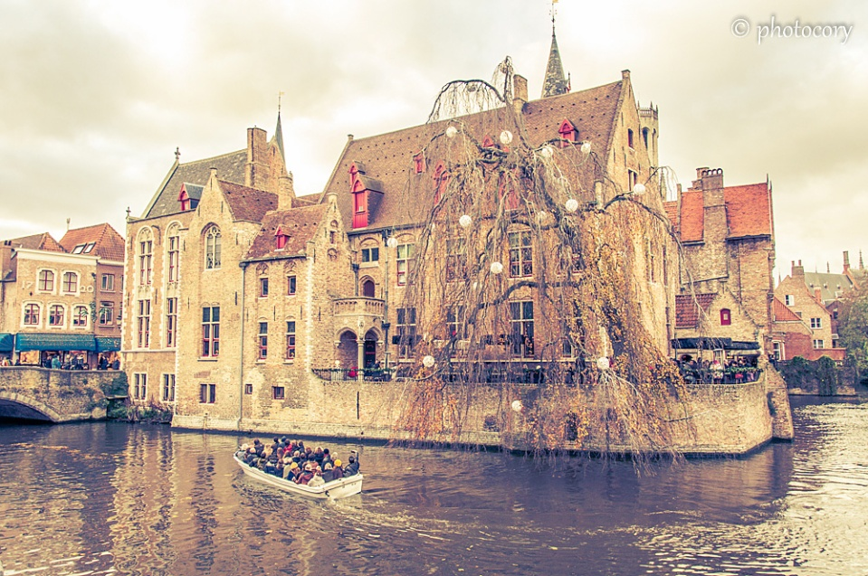 this quay is the most popular place for photography in Bruges