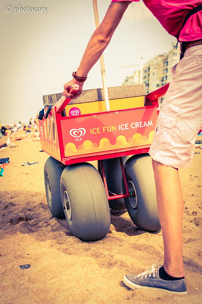 Fun icecream in Ostend