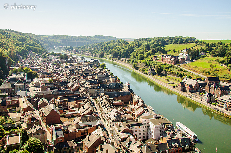 Dinant seen from the Citadel
