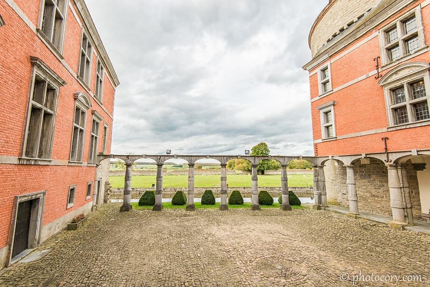 The inner courtyard wth nice columns
