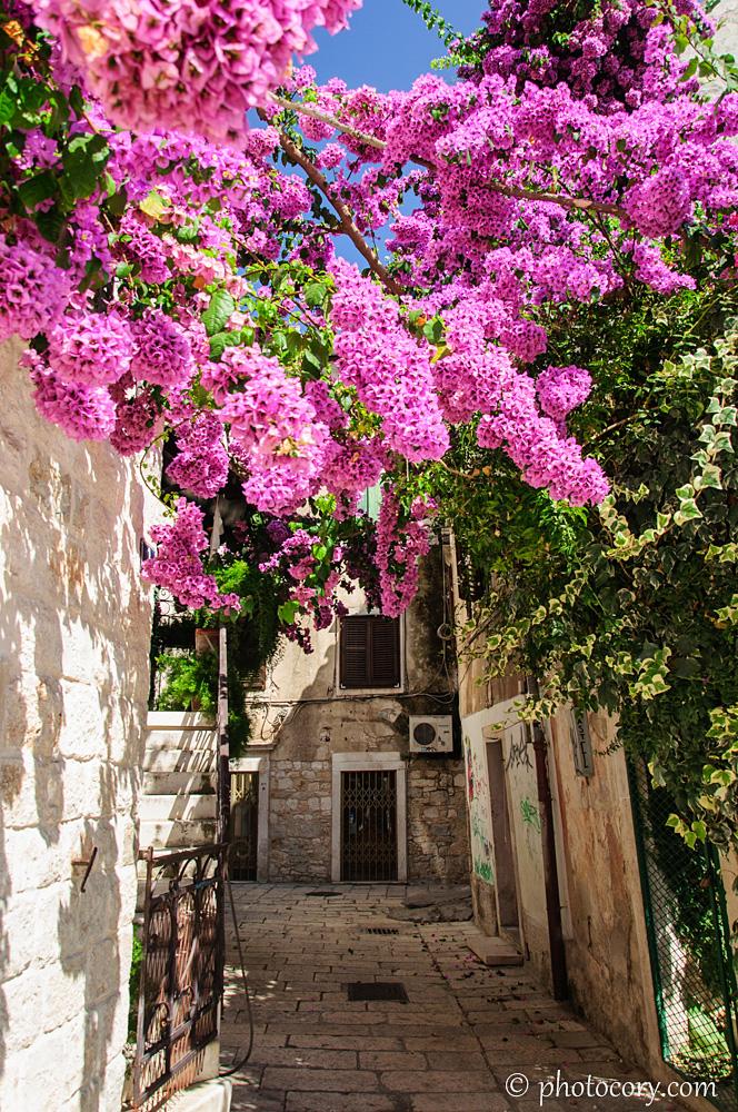 A very narrow street