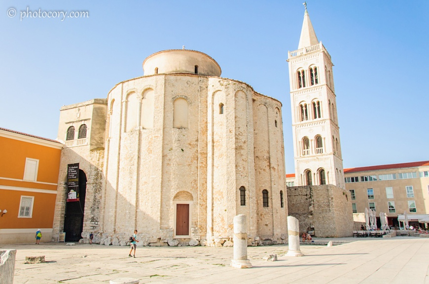 The old city in Zadar. It was very cold in that building! I enjoyed it!