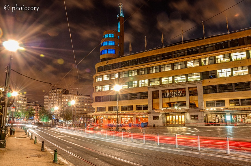 This is Place Flagey, with it's art deco building