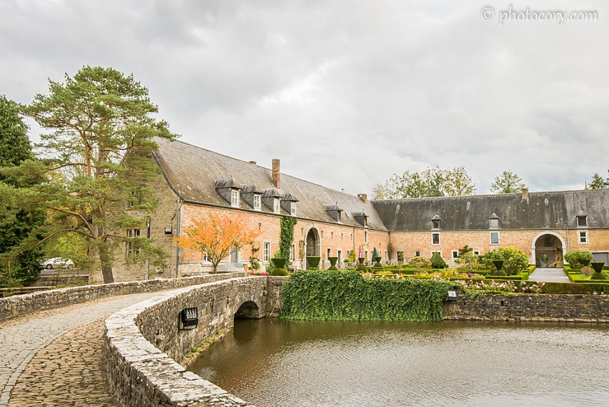 the pond around the Castle