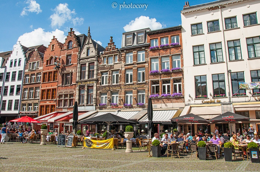 restaurans in the sun, Antwerp