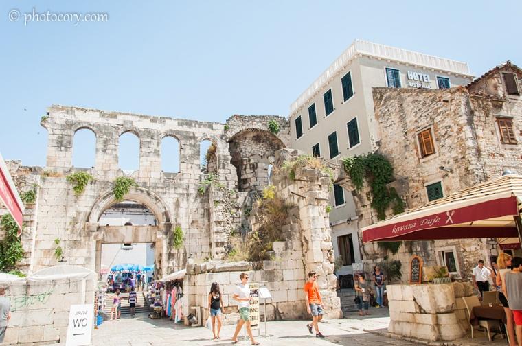 ruins in Split