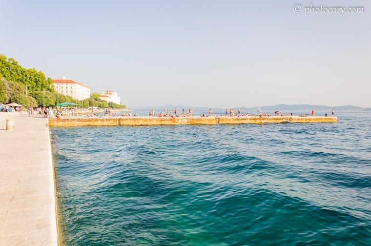 The Adriatic sea in Zadar