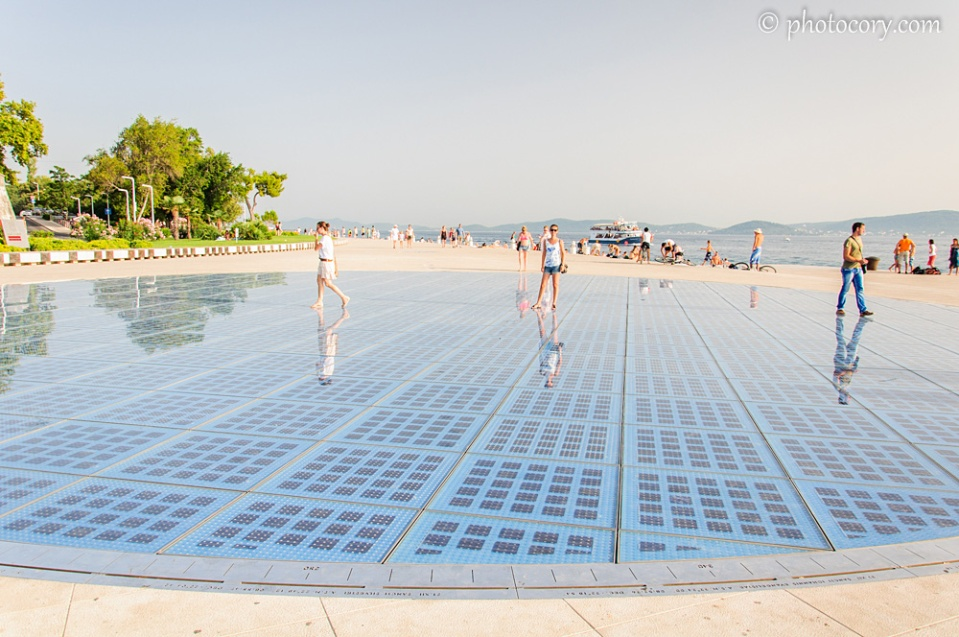 A very large solar panel in Zadar