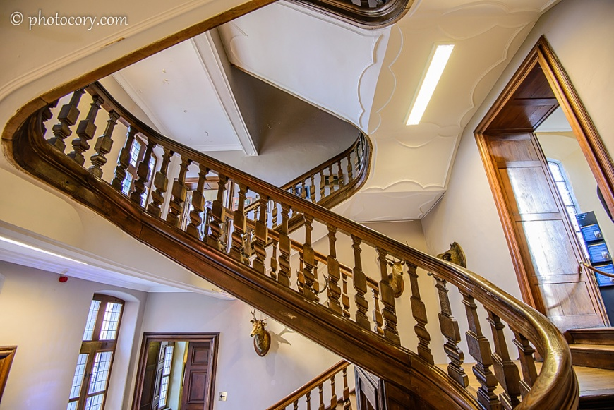 I loved this spiral wooden staircase