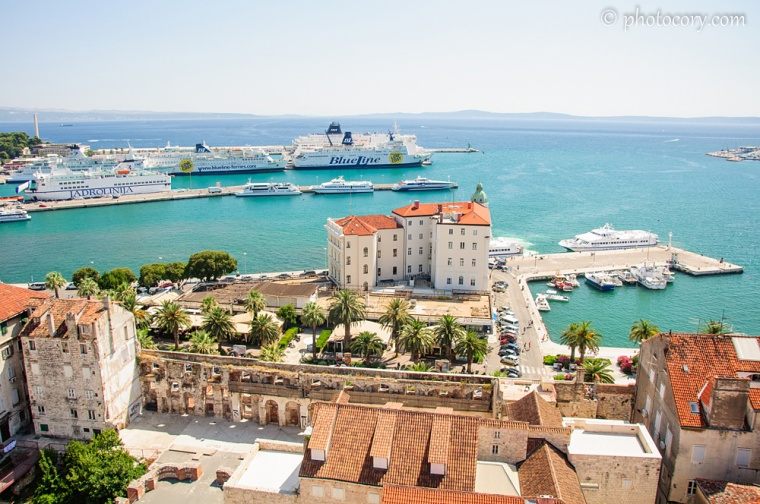 The port in Split. View from the tower
