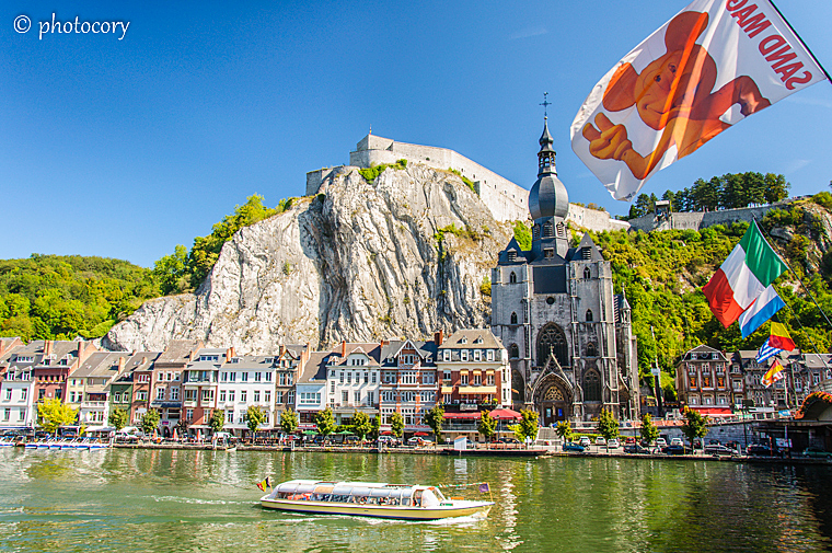 The Citadel and the Notre Dame church in Dinant