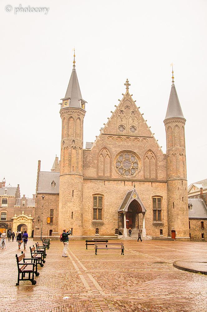 The Ridderzaal (Knight's Hall) inside the Binnenhof