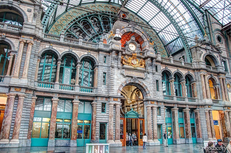 Beautiful train station in Antwerp