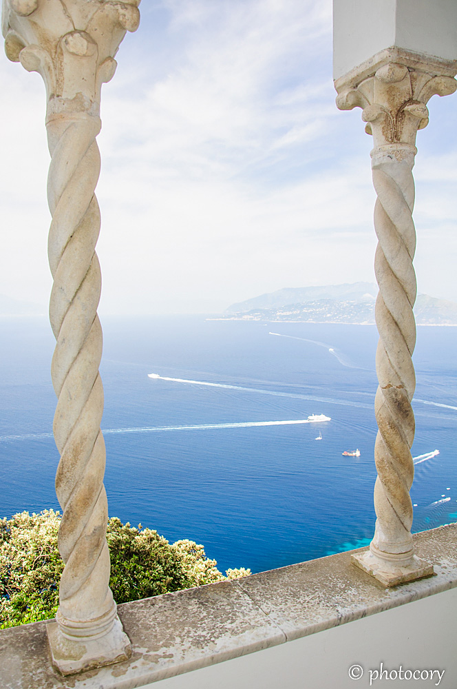 View over Tyrrhenian Sea from Villa San Michele