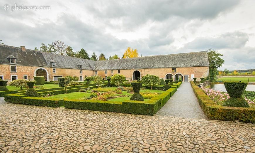 the inner garden of the Castle