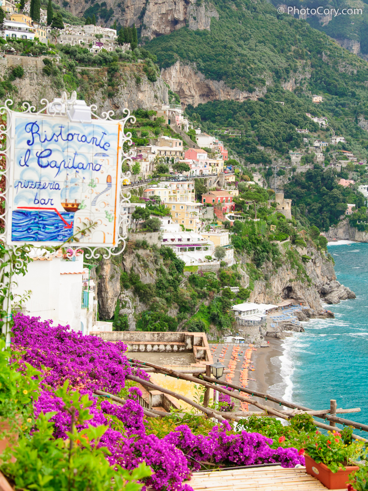 view positano colors