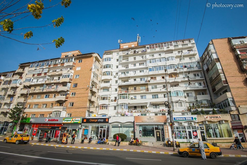 Apartment buildings in the Center of Targoviste