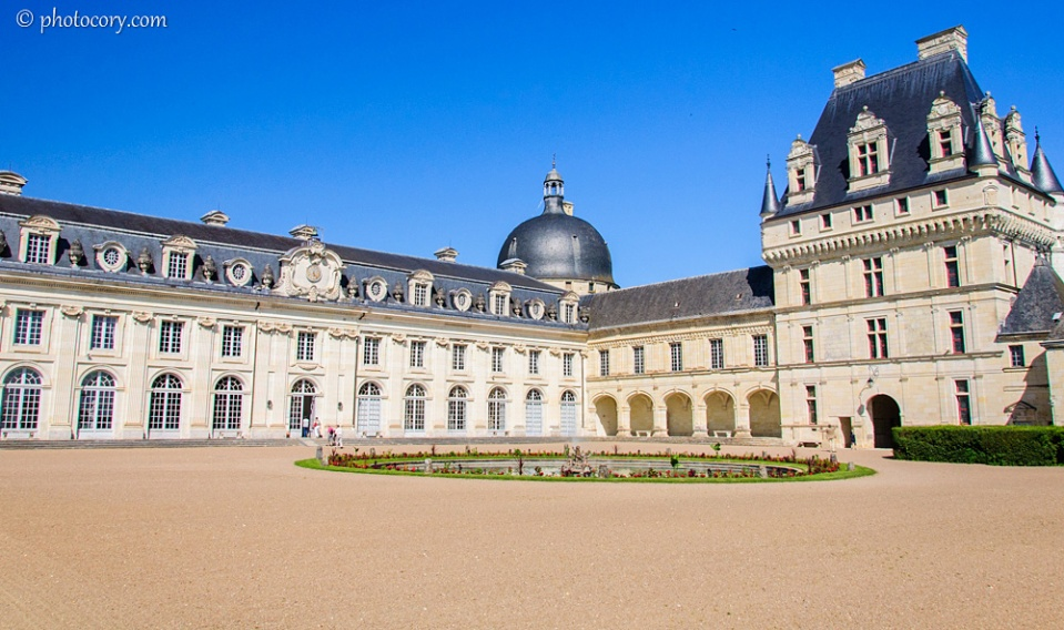 The back yard of the Valencay Castle