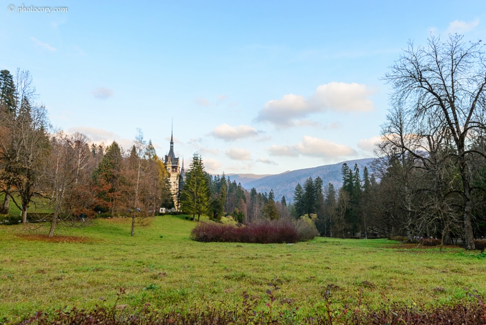 Beautiful nature surrounding the Peles Castle