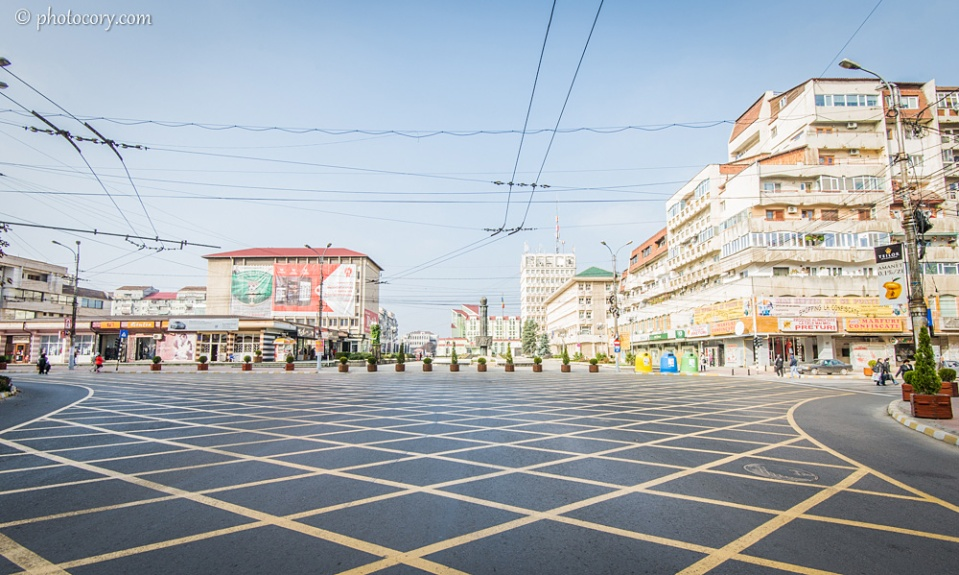 Big intersection in Targoviste Center