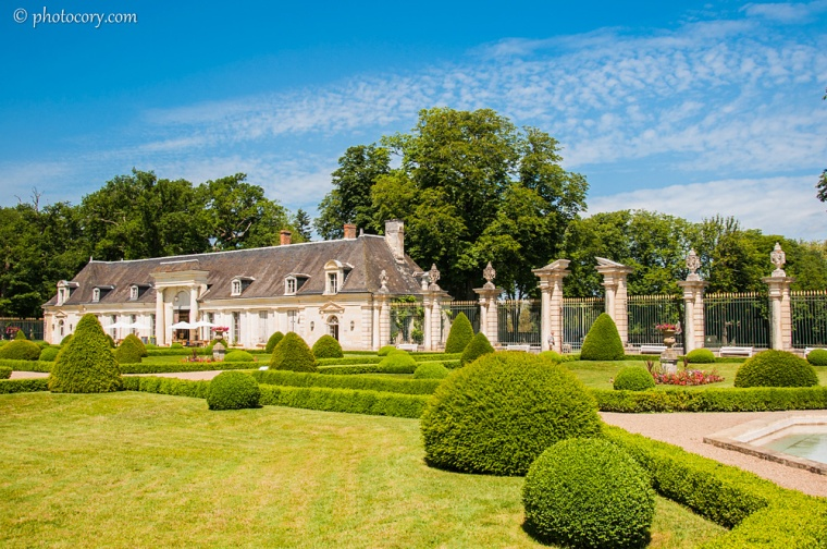 The front yard at Valençay Castle
