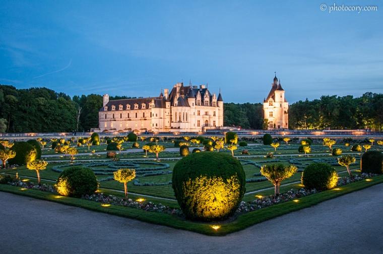 garden chenonceau castle