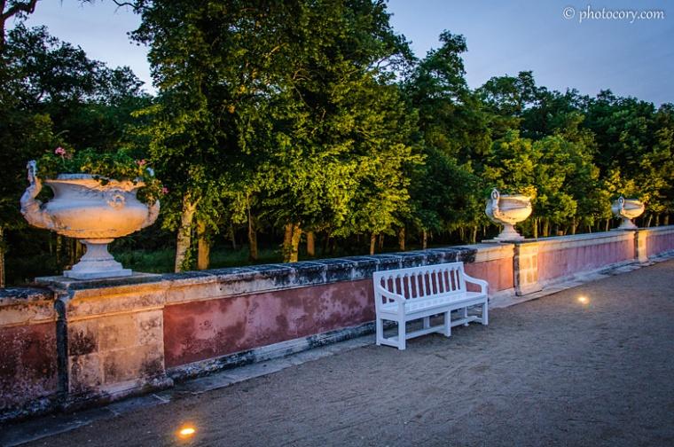 Illuminated Garden Chenonceau castle