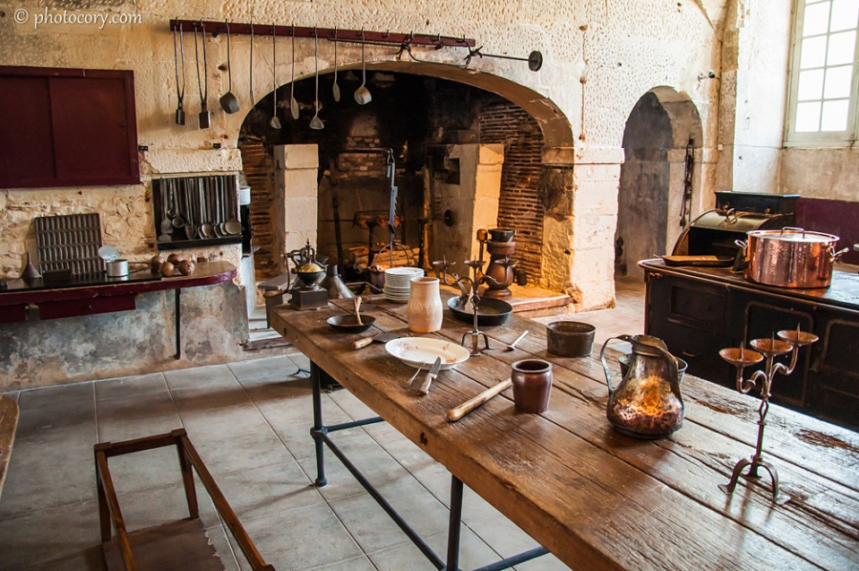The kitchen of Valencay Castle