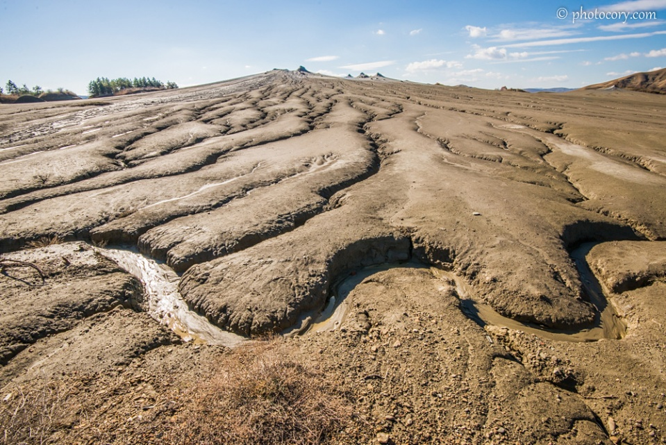 Mud Volcanoes in Buzau, Romania. Paclele Mari
