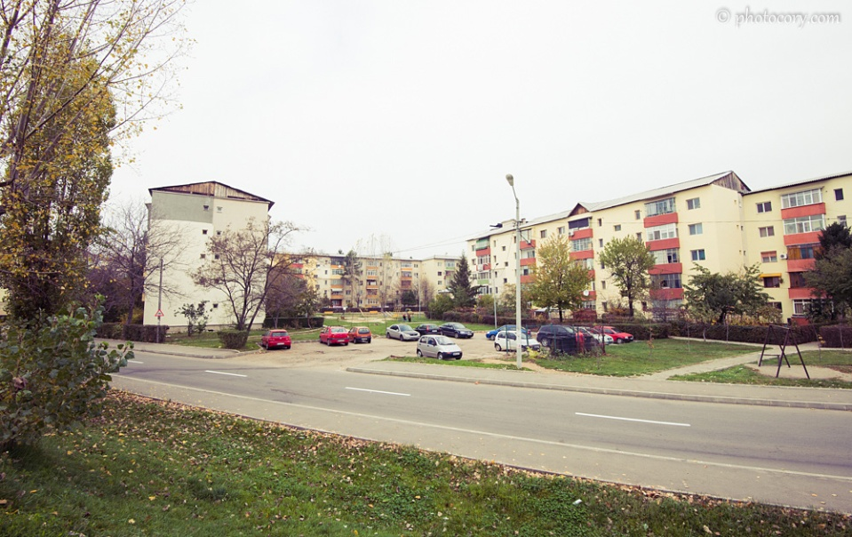 Old communist buildings in Targoviste