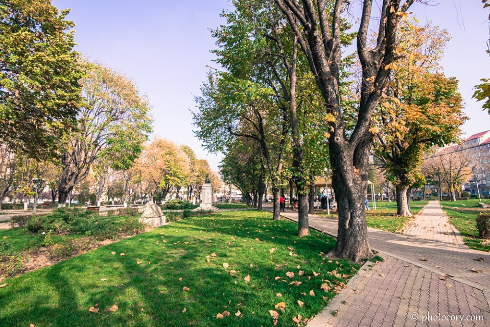 Alleys in the Central Park of Targoviste