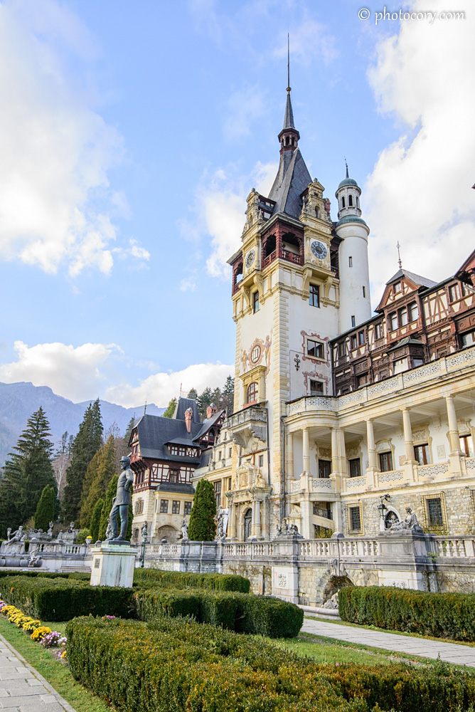 Peles Castle courtyard