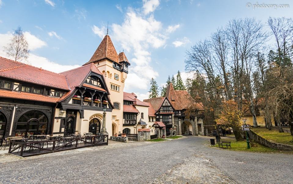 The hotel restaurant at Peles Castle