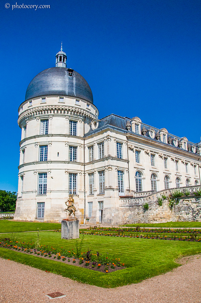 One of the round towers of Valencay Castle