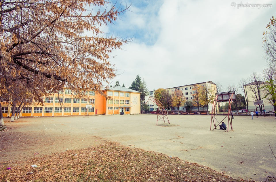 The courtyard of School number 8, where I've spent 7 years of my life, between 2nd and 8th grade :)
