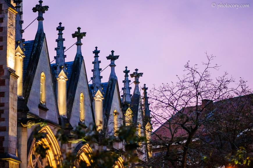 St. Quentin's Cathedral at sunset